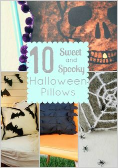 10 Sweet and Spooky Halloween Pillows