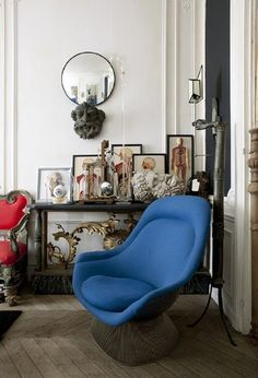 One Foolproof Way to Instantly Perk Up Any Room. Blue chair.