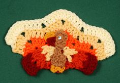 Turkey Coaster - free crochet pattern