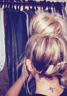 The messy bun is cute.