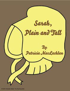 Sarah, Plain and Tall Novel Unit ~ Common Core Standards Aligned
