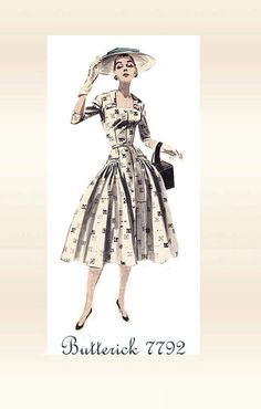 1950s Sewing Pattern Butterick