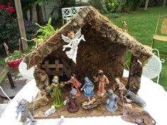 vintage nativity set, creche, made in Italy