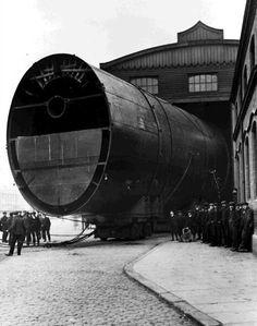 One of Titanic's three enormous smokestacks.