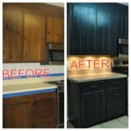 This website is awesome!  This is how to redo kitchen cabinets but also has instructions on how to redo stairs, old furniture and more!  So inspiring! #Home