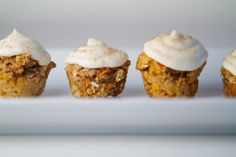Peanut Butter & Carrot Pupcake.  1 cup of whole wheat flour,  1 tsp of baking soda,  1/4 cup of peanut butter,  1/4 cup of vegetable oil,  1 egg,  1 cup of doggy biscuits,  2 Carrots.  Icing:  3 frosting recipes included (cinnamon, carob, plain cream cheese)