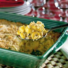 Two-Cheese Squash Casserole | This squash casserole recipe is a hit with our readers who make it for everything from family dinners to holiday buffets. It's rich, creamy, and sure to satisfy. | SouthernLiving.com