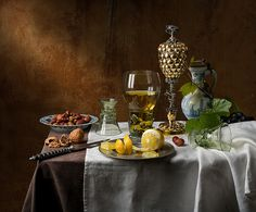 Still Life with Pineapple Cup (after Pieter Claesz)