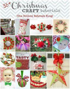 hairbow, christmas crafts, ribbon, craft tutorials, hair bows