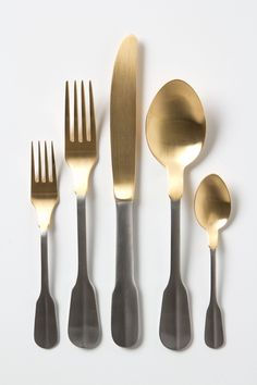 Gold-Dipped Flatware - Anthropologie.com