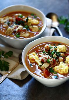 Curry Chicken Chickpea Soup