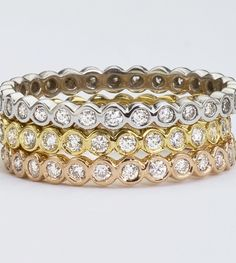Gold and Diamond Rings.