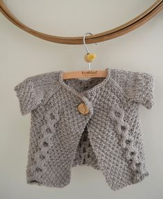 Double Breasted Baby Sweater by Thread and Ladl free pattern