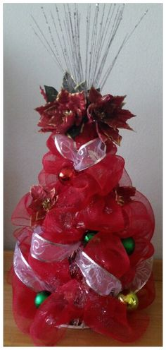 Deco mesh Christmas Tree by La Vie en Craft