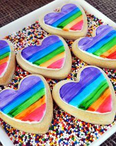 Incredible rainbow cookies #rainbow #cookies