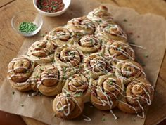 Cinnamon Roll Christmas Trees Recipe | Sweet Treats | 		Chill Time: 2 hours to 2 days