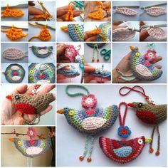 DIY Lovely Crochet Birdie Decoration  https://www.facebook.com/icreativeideas