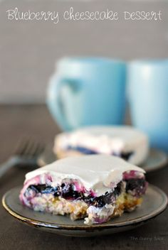 This Blueberry Cheesecake Dessert Recipe was passed down to me from my husband's grandmother. It is easy to make and so delicious!