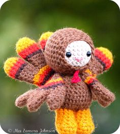 #Thanksgiving #turkey #cute #DIY #crafts #amigurumi #crochet #kawaii #dolls #toys #softie #handmade #cute #adorable