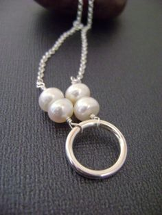 Necklace with Sterling silver ring