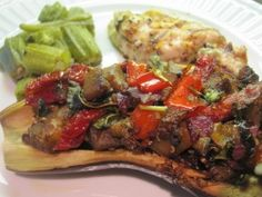 Stuffed Eggplant and Crispy Baked Okra - Everyday Paleo eggplants, everyday paleo, bake okra, foods, crispi bake, favorit recip, vegetables, stuf eggplant, healthi recip