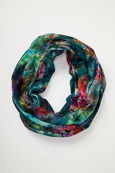 Lovely woven scarf at Anthropologie -- love these colors together -- the pink and orange pops are awesome.