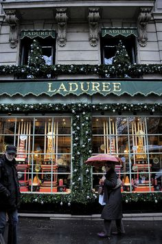 Laduree at Christmas in Paris.