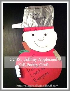 johnny appleseed crafts | Common Core Lesson Plan: Johnny Appleseed Fall Poetry Craft | Teacher ...