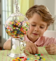 Old-Fashioned Style Silver Plated Candy and Snack Dispenser