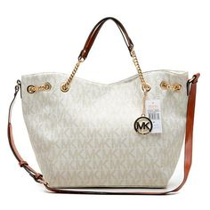 Michael Kors Chain Large Vanilla Totes.More than 60% Off, I enjoy these bags.It's pretty cool (: Check it out! | See more about michael kors outlet, michael kors and outlets.