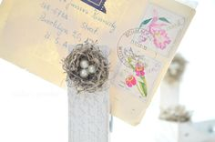Cottage Chic Bird Nests Clothes Pin  set of by AbbysPaperieGarden, $18.00