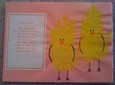 April Handprint Calendar and poem