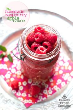 Raspberry Applesauce    7 Favourite Vegan Recipes From Family Fresh Cooking! © MarlaMeridith.com..... We're not vegan but these look yummy!!