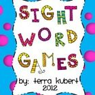 22 Dolch sight word games.  Each game includes a color and b/w game board with 10 different words.  Includes 220 sight words.
