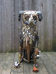Trash Sculptures by Nathalie Trepanier