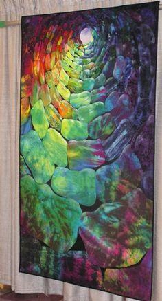 color, art quilt, well express, esterita austin, appliqu