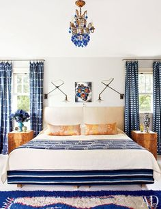 Master Bedroom : Artist Cindy Sherman's House in the Hamptons : Architectural Digest