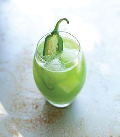 Cucumber-Kale Juice With A Jalapeno Kick