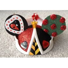 Disney Queen of Hearts Mickey Mouse Ears Hat Limited Edition Ornament