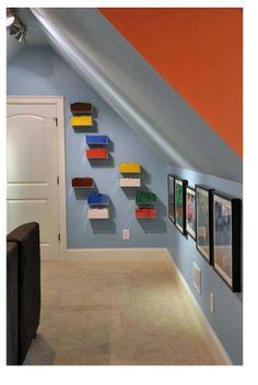 Toy storage on wall