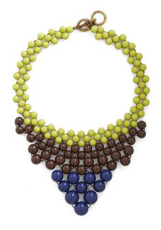 Just Bead Yourself Necklace in Earth, #ModCloth