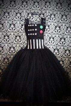 Darth Vader Tutu Dress by FrostingShop on Etsy. I am totally copying this for Halloween.