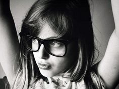 black and white / glasses / ♥