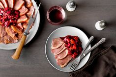 Recipe: Magret With rhubarb and blood oranges || Photo: Rikki Snyder for The New York Times