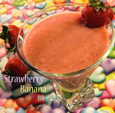 Strawberry Banana Blend is in the top 3 smoothies that I've ever made.  Strawberries, bananas, peaches, and OJ partner with  strawberry sorbet (I used sherbet) for one very delicious smoothie..