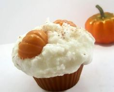 Extra Large Pumpkin Pie Cupcake Candle by CandlelitDesserts1 for $7.50