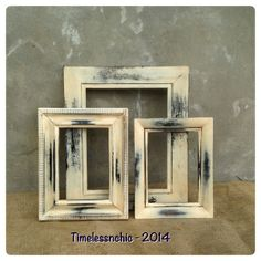 Distressed Picture Frames - Picture Frame Set - Picture Frames Distressed - Primitives Country - CHIC
