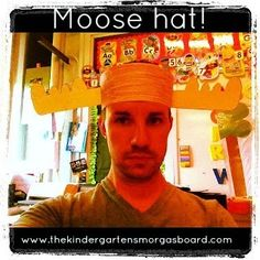 Moose hat for M and If You Give A Moose A Muffin