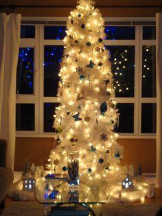 white christmas trees, xmas tree, christma tree
