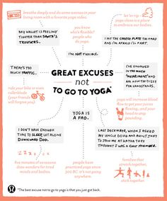 Great excuses not to do yoga